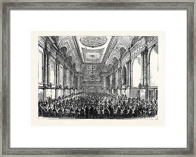 The Cutlers Feast At Sheffield Inauguration Of The New Hall Framed Print by English School