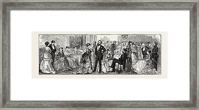 The Cutlers Feast At Sheffield, Uk Conversazione Framed Print by English School