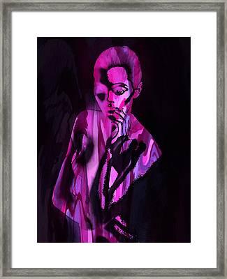 The Cyber Woman Framed Print by Steve K