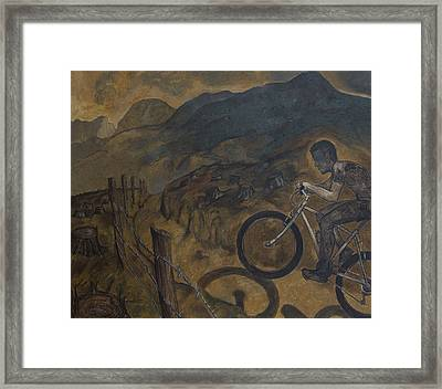 The Cyclist Framed Print by Fernando Alvarez