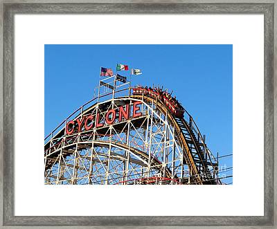 Framed Print featuring the photograph The Cyclone by Ed Weidman
