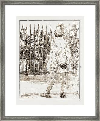 The Cynosure Of All Eyes A Scene At Chelsea Barracks Framed Print