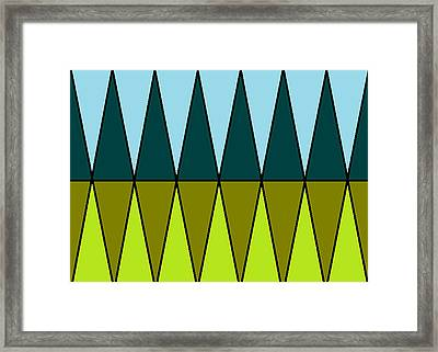 The Cypress Trees  Framed Print by Anita Dale Livaditis