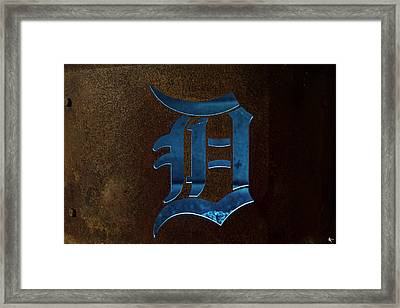 The D Can Detroit Mi Framed Print by A And N Art