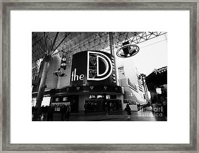 the D Las Vegas casino hotel freemont street Nevada USA Framed Print