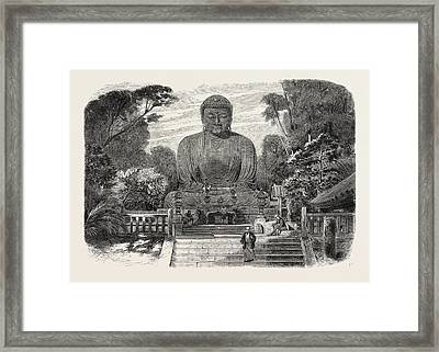 The Daiboutz, A Bronze Colossal Statue On The Site Framed Print