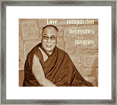 The Dalai Lama Framed Print
