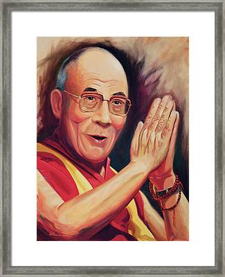 The Dalai Lama Framed Print by Steve Simon
