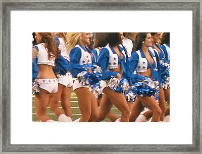 The Dallas Cowboys Cheerleaders Framed Print by Donna Wilson