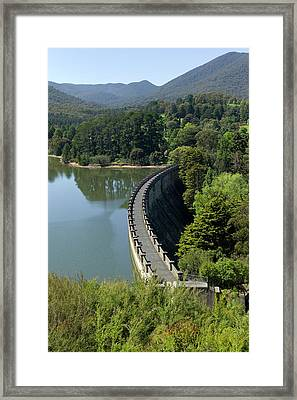 The Dam Wall Of Maroondah Reservoir Framed Print by Dr Jeremy Burgess