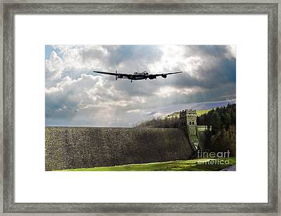 The Dambusters Over The Derwent Framed Print