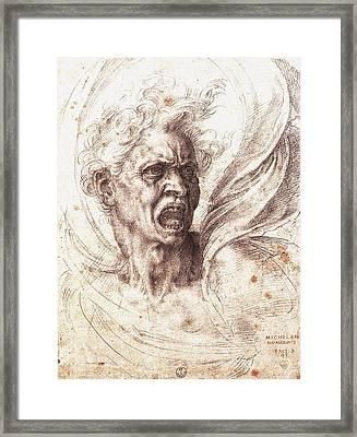 The Damned Soul Framed Print by Michelangelo Buonarroti