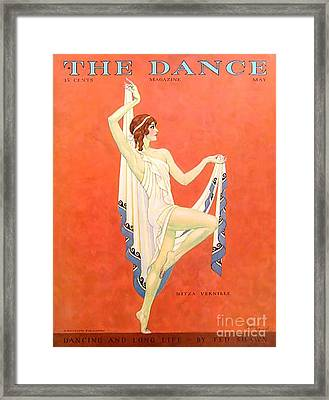The Dance 1929 1920s Usa Nitza Vernille Framed Print by The Advertising Archives