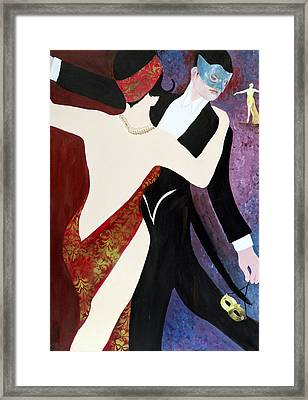 The Dance, 2004 Acrylic With Collage On Paper Framed Print by Susan Adams