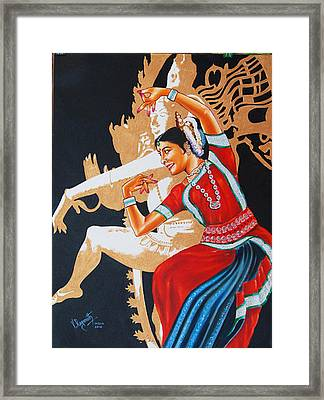 The Dance Divine Of Odissi Framed Print by Ragunath Venkatraman