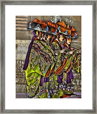 The Dance Framed Print by Karen Walzer