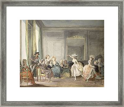 The Dance Lesson Framed Print
