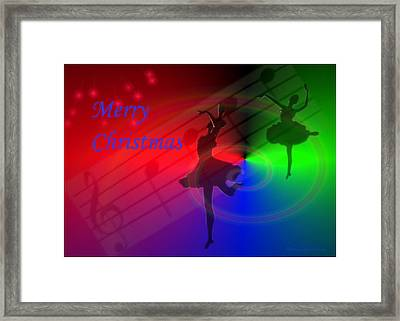The Dance - Merry Christmas Framed Print