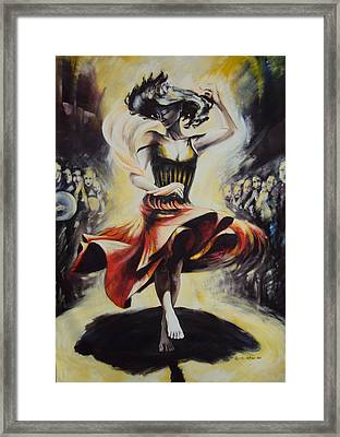 The Dance Of The Tarantula.. Framed Print by Alessandra Andrisani