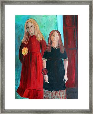 Framed Print featuring the painting The Dance by Rosemarie Hakim