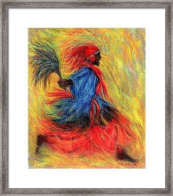The Dancer, 1998 Oil On Canvas Framed Print by Tilly Willis