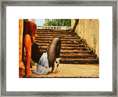 The Dancer Framed Print by Elizabeth Coats