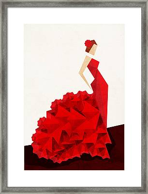 The Dancer Flamenco Framed Print by VessDSign