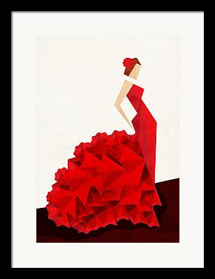 Dresses Digital Art Framed Prints