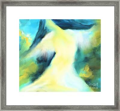 The Dancer Framed Print by Hilda Lechuga