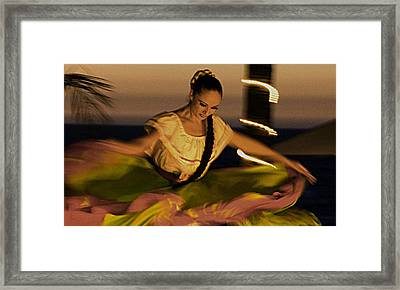 Framed Print featuring the photograph The Dancer II by Chuck Caramella