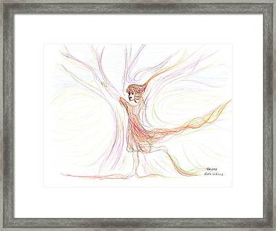 Framed Print featuring the drawing The Dancer by Lula Adams