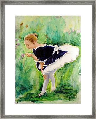 The Dancer Framed Print by Sheila Diemert