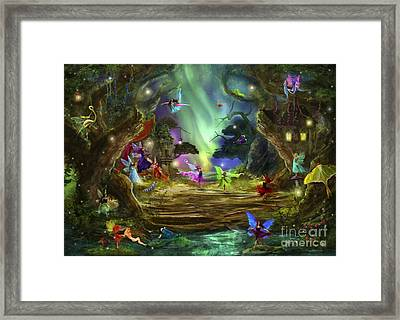 The Dancing Auroras Framed Print by Aimee Stewart
