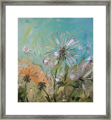 The Dandelions Framed Print by Solomoon Art Studio