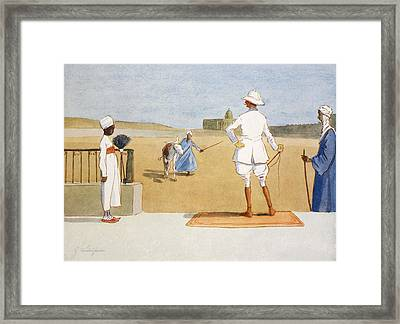 The Dandy Tourist, From The Light Side Framed Print by Lance Thackeray