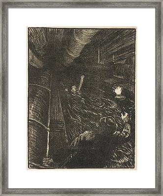 The Dangers And Working  Conditions Framed Print