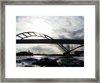 The Daniel Hoan Memorial Bridge Framed Print by David Blank