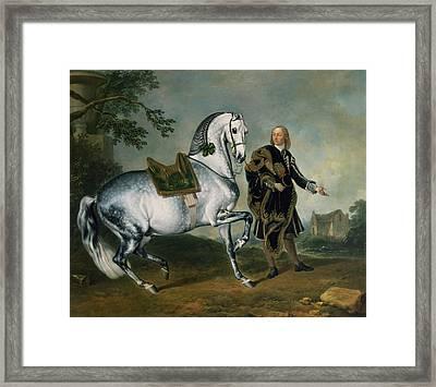 The Dappled Horse Scarramuie En Piaffe Framed Print