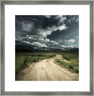 The Dark Clouds Framed Print by Boon Mee