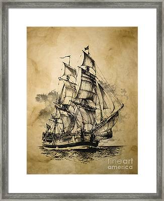 The Dark Endeavor Framed Print