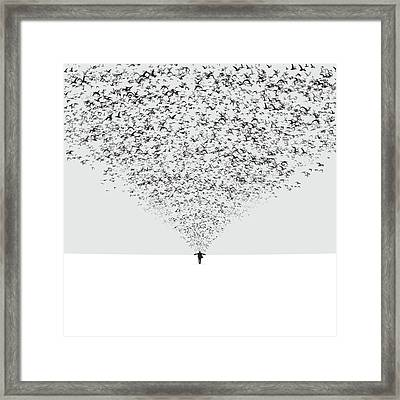 The Dark Half Framed Print