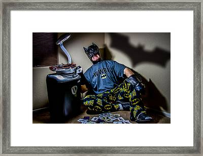 The Dark Knight Retired Framed Print by Randy Turnbow