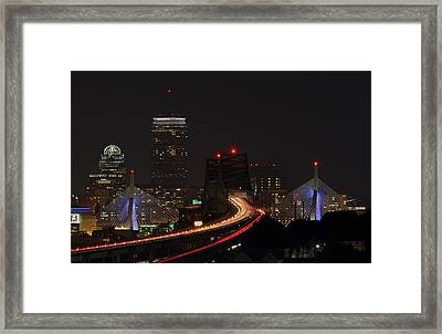 The Dark Side Of Boston Framed Print