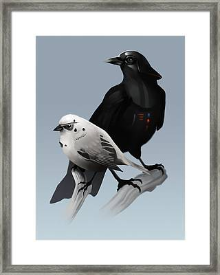 The Dark Side Of The Flock Framed Print