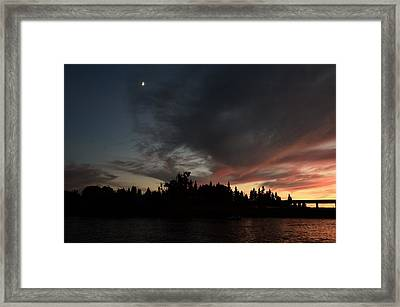 The Dark Side Of The Sunset Framed Print