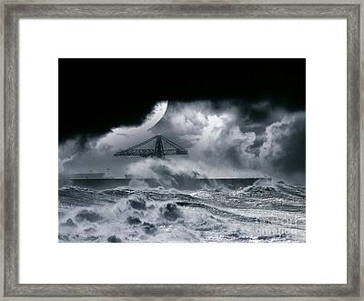 The Dark Storm Framed Print by Boon Mee