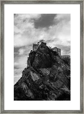 The Dark Tower Of Abyss Framed Print by Andrea Mazzocchetti
