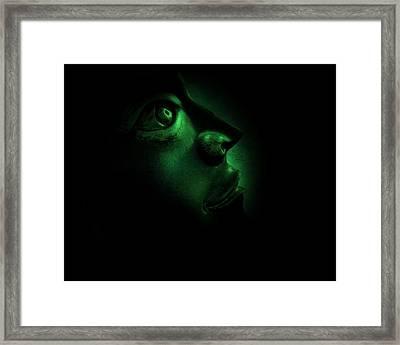 The Darkest Hour Cyan Framed Print by David Dehner
