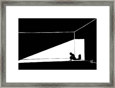 The Darkned Room Framed Print by Justin Moore