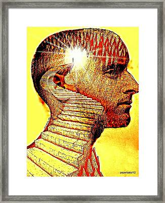 The Darkness Inside Your Mind Reveals The Light Framed Print by Paulo Zerbato